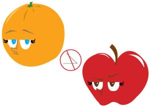 Oranges and apples are both fruit, but one is not better than the other.